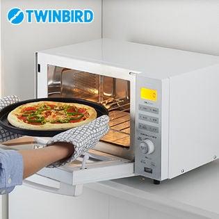ツインバード(TWINBIRD)/センサー付フラットオーブンレンジ (ホワイト)/DR-E852W