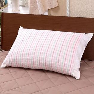 やわらかタオル地のびのび枕カバー (6枚セット:ブルー×2枚、ピンク×2枚、ブラウン×2枚)