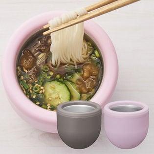 計2点[ピンク&ブラウン]ドウシシャ/シャリシャリ麺ちょこ/DMC-19