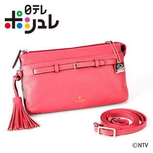 ペレボルサ アンミカコラボお財布ポシェット/ピンク