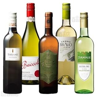 珍しい陰干し製法ワイン入り!冷やして美味しい世界の白ワイン5本セット