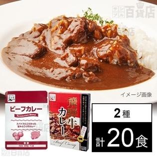 【2種計20食】レストランブレンドビーフカレー / 飛騨限定 飛騨牛カレー