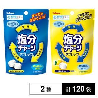 [1袋21g × 各60袋] 小袋タイプ 塩分チャージタブレッツ (スポーツドリンク味 & 塩レモン味)