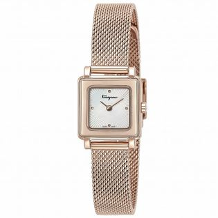 【Ferragamo】SQUARE【SFBY00219】レディース腕時計 ホワイトパール×ゴールド