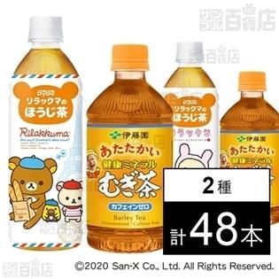 リラックマのほうじ茶 500ml/健康ミネラルむぎ茶 ホット 500ml