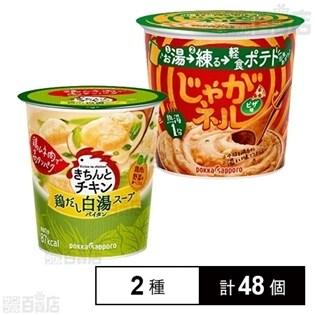 きちんとチキン 白湯スープ 22.0g 24個/じゃがネルピザ味カップ 24個