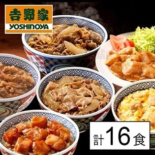 【6種計16食】吉野家バラエティセットA(牛丼の具・豚丼の具・牛焼肉丼の具・焼鶏丼の具・豚生姜焼き・親子丼の具)