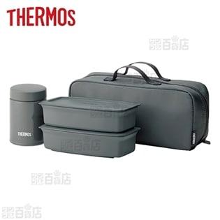 [1000ml/ダークグレー] サーモス(THERMOS)/真空断熱スープランチセット/JEA-1000-DGY