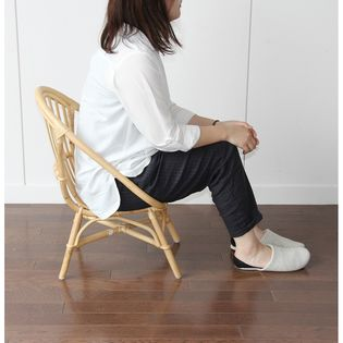 【ナチュラル】Rattan Chair(mini) ラタンチェア 完成品