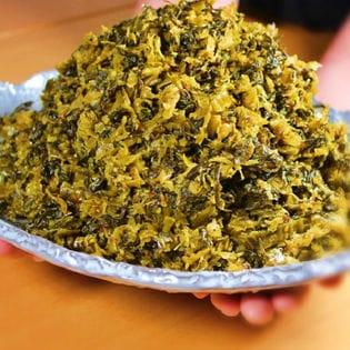博多ラーメン辛子高菜漬け(ピリ辛油炒め刻みタイプ)たっぷり1kg!メガ盛り(業務店サイズのお徳用)