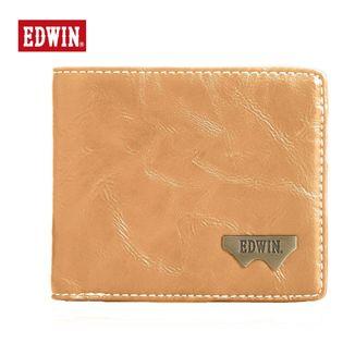 【キャメル】12289938EDWIN  財布Wメタル折財布