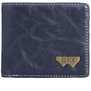 【ネイビー】12289938EDWIN  財布Wメタル折財布