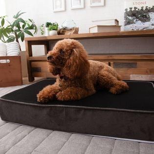【Mサイズ/ブラック×グレー】犬用 冷却ジェルウレタン入り 快適プレミアムベッド