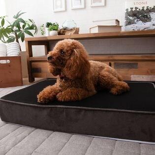【Lサイズ/ブラック×グレー】犬用 冷却ジェルウレタン入り 快適プレミアムベッド
