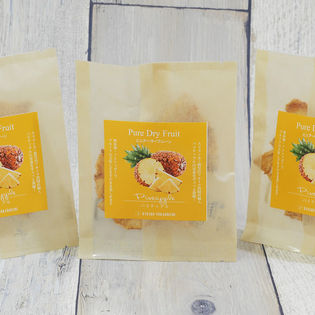 【3袋セット】ピュア・ドライフルーツ「パイナップル」