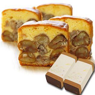 【ケーキ2本】足立音衛門 栗のテリーヌ 栗 パウンドケーキ 2本セット 紙箱入り