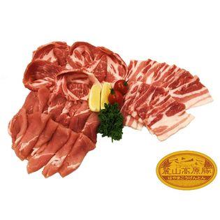 "【600g(3種×1セット)】ブランド豚 ""麓山高原豚"" 焼肉 セット 1~2人前"