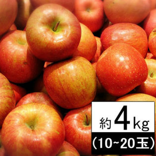 【約4kg(10~20玉)】 青森県OR長野県産りんご※品種おまかせ※(ご自宅用、傷あり)