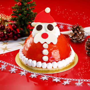 【予約受付】12/19~順次発送 サンタクロースのストロベリーケーキ(xm1629sh)