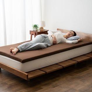 【ブラウン】TOMORROW SLEEPER 高密度形状保持マットレス シングルサイズ