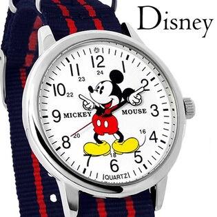 【スワロフスキー使用 NATOタイプ 腕時計】ディズニー ミッキー ユニセックス