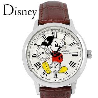 ヴィンテージ 腕時計【本革 スワロフスキー】ディズニー ミッキー ユニセックス