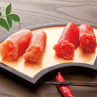 1950年創業の老舗の明太子屋 博多 有色・無着色明太子2kg(各1kg)食べ比べセット