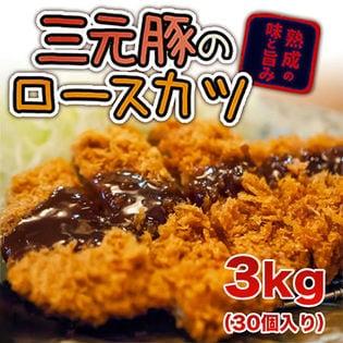 【計3kg(100g×30個入)】四国日清 三元豚のロースカツ