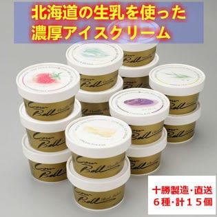【15個セット 6種(各3個、各2個)】北海道 十勝カウベルアイス