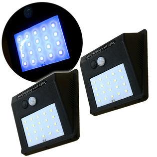 【3段切替】ソーラーLEDセンサーライト 便利過ぎる2個セット