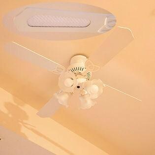 【ホワイト】シーリングファン 42インチ/お部屋の空気を循環させるサーキュレーション効果も◎
