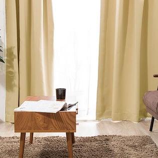 【ライトベージュ/幅100cm×丈200cm】1級遮光カーテン 2枚組/強い日差しを遮る1級遮光生地