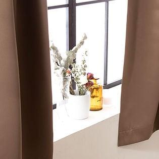 【ブラウン/幅100cm×丈135cm】1級遮光カーテン 2枚組/強い日差しを遮る1級遮光の生地