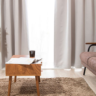 【ライトグレー/幅100cm×丈135cm】1級遮光カーテン 2枚組/強い日差しを遮る1級遮光の生地