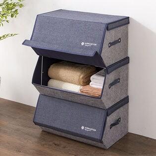 【ブラウン/6点セット】収納ボックス スタッキングボックス 幅50cm/1つでも積み重ねても使える!