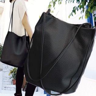 [ブラック]ベビーカーフレザー調高級PUセレクトバッグ