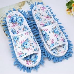 歩くだけで楽々掃除ができる掃除スリッパ♪(ブルー)