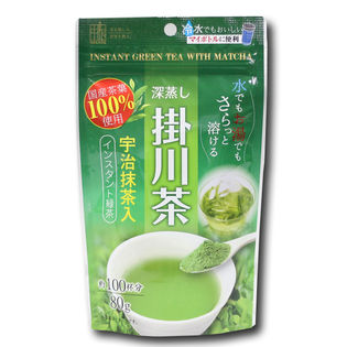 【80g入×3パックセット】抹茶入りインスタント掛川茶 掛川産深蒸し茶と宇治抹茶でまろやかな味わい