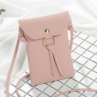 携帯入れミニPUバッグ(ピンク)