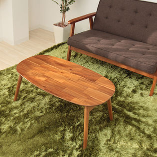 【ブリッキー】折れ脚テーブル 楕円/完成品。アカシア集成材のオシャレな天板が魅力的!