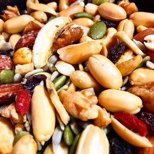 【50g×5袋(計250g)】スモークミックスナッツ&スモークフルーツ 袋は便利なチャック付き