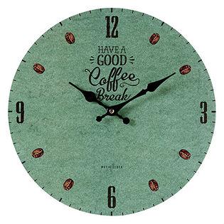 【COFFEE BREAK <green>】モチーフクロック shopシリーズ 33cm壁掛け時計