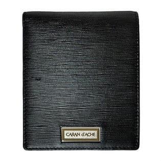 【ブラック】CARAN d'ACHE(カランダッシュ) 二つ折り財布 CA101008