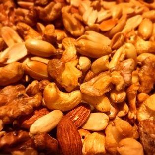 【50g×5袋(計250g)】スモークミックスナッツ 袋は便利なチャック付き