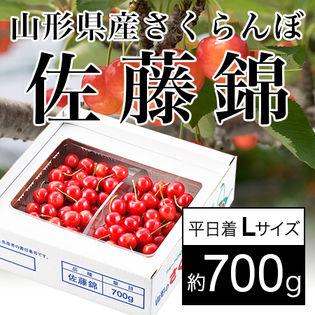 【予約受付】<平日着>山形県産さくらんぼ 佐藤錦(さとうにしき)約700g Lサイズ