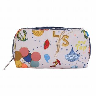 [LeSportsac}RECTANGULAR COSMETIC ポーチ / ホワイト