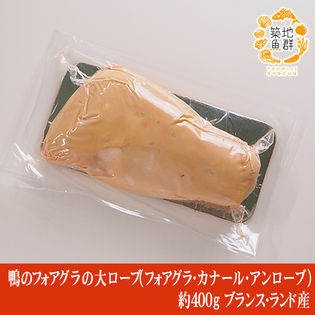 【約400g】鴨のフォアグラの大ローブ(フォアグラ・カナール・アンローブ)ブランス・ランド産