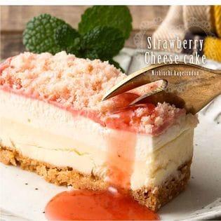 完熟いちごのチーズケーキ