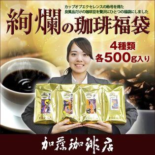 【計2kg(500g×4種)】絢爛の珈琲飲み比べ/カップオブエクセレンス<挽き具合:豆のまま>