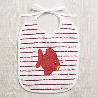 [FEILER(フェイラー)]BABY BIB FISH 子供用スタイ / レッド